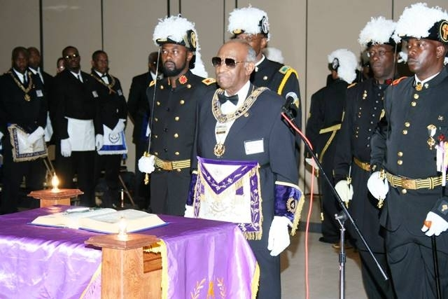 PGM Cash being received in Grand Lodge at Most Worshipful Prince Hall Grand Lodge Of Texas.