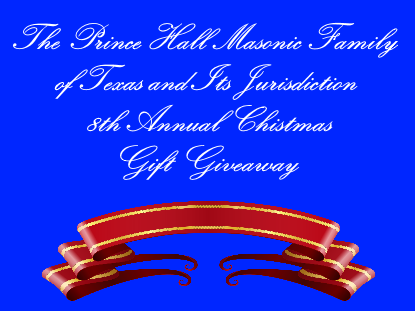 8th Annual Masonic Family Christmas Giveaway Flyer