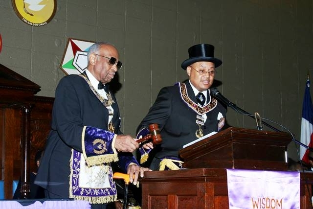 PGM Cash in Grand Communication at Most Worshipful Prince Hall Grand Lodge Of Texas.
